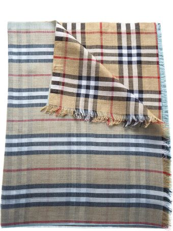 Burberry Two Color Tartan Scarf