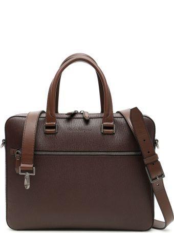 Salvatore Ferragamo Revival Briefcase With Strap