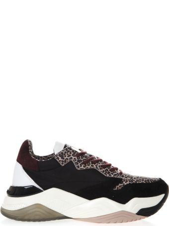 Crime london Mercer Black Suede Sneakers With Animal Details