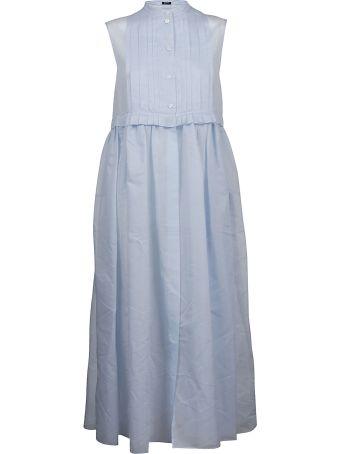 Jil Sander Navy Pleated Dress