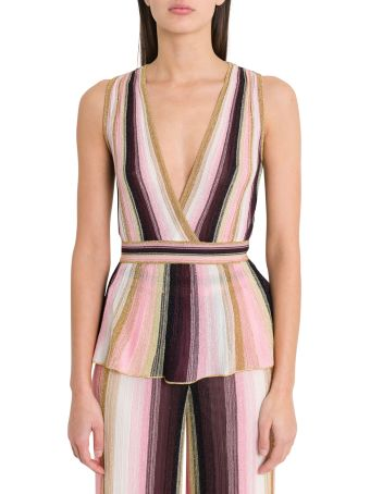 M Missoni Top With Stretch Waist And Basque Style