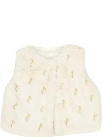Chloé White Faux Fur Vest