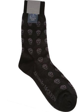 Alexander McQueen Skull Pattern Print Socks