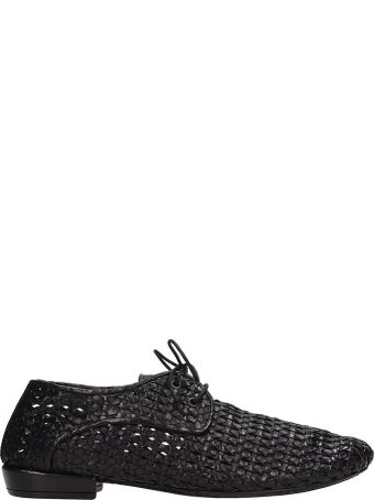 Marsell Black Leather Lace-up Shoes