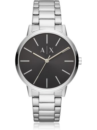 Emporio Armani Cayde Silver Minimalist Men's Watch