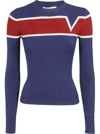 Valentino Contrast Stripe Sweater