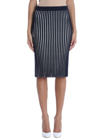 Victoria Victoria Beckham Striped Pencil Skirt