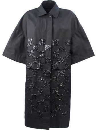 Dries Van Noten Black Cotton Coat
