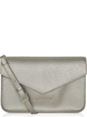Lancaster Paris Adeline Saffiano Leather Flap Clutch W/shoulder Strap