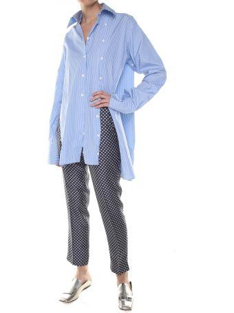 Alberto Biani Tie-print Silk-twill Trousers