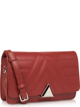 Lancaster Paris Parisienne Matelassé Quilted Leather Crossbody Bag