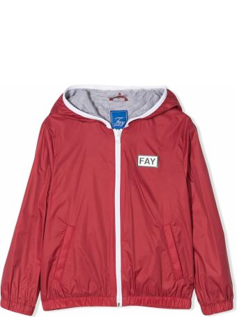 Fay Red Hooded Jacket