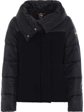 Colmar Black Wool Nylon Puffer Jacket