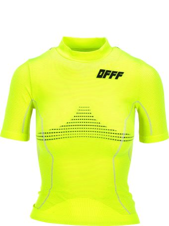 Off-White Off White Short Sleeve Athletic Top