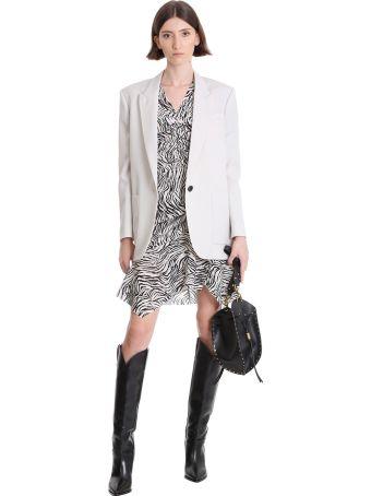 Isabel Marant Arodie Dress In Beige Silk