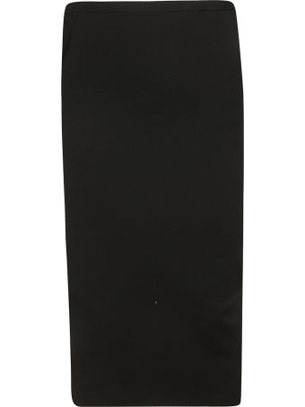 Rick Owens Wrap Back Fitted Skirt