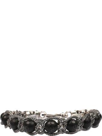Emanuele Bicocchi Beaded Silver Bracelet