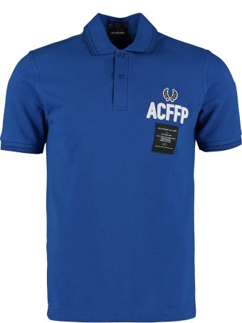 Fred Perry Fred Perry X Art Comes First Cotton Polo Shirt