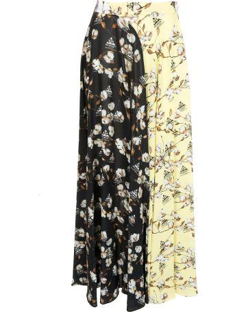 Off-White Flower Print Skirt