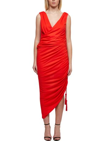 Lanvin Ruched Midi Dress
