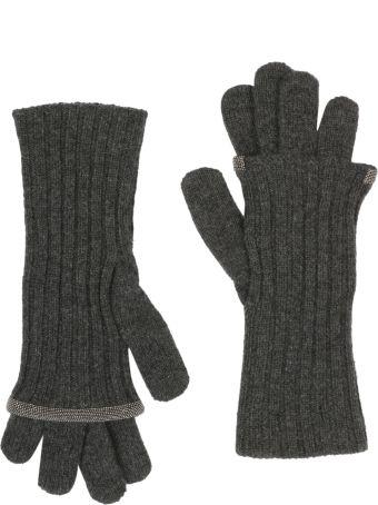 Fabiana Filippi Ribbed Knit Gloves