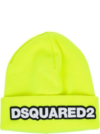 Dsquared2 Knit Hat Double Wool W/patch