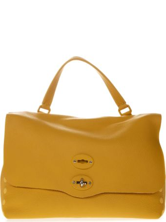 Zanellato Tote Bag In Mustard Leather