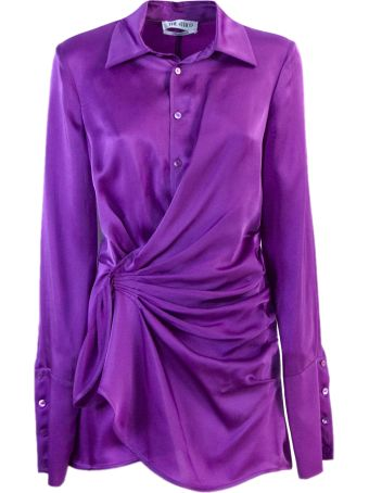 The Attico Purple Shirt Dress