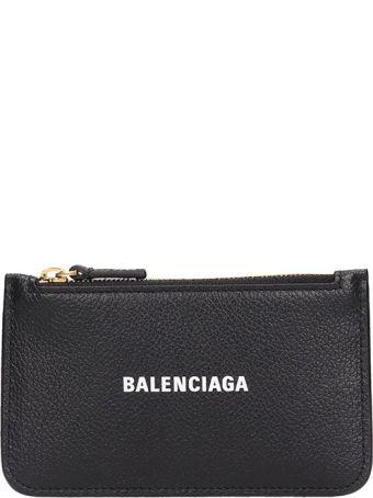 Balenciaga Cash Long Wallet In Black Leather