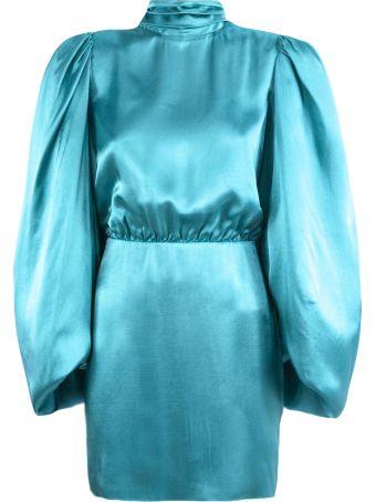 The Attico Turquoise Short 'gobi' Dress
