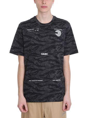 OAMC Schule Black Cotton Camouflage T-shirt
