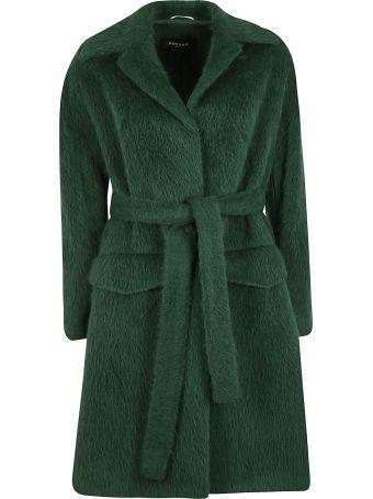 Rochas Faux Fur Belted Coat
