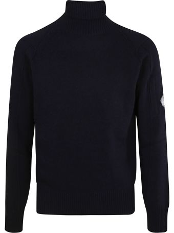C.P. Company Turtleneck Ribbed Sweater