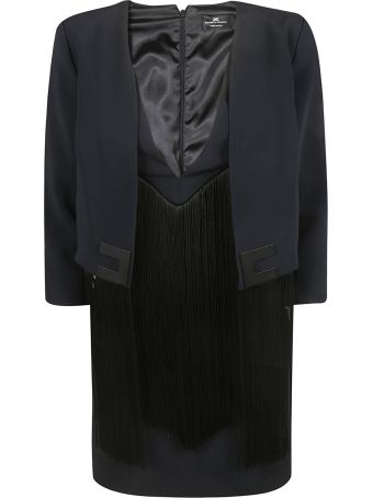 Elisabetta Franchi Celyn B. Fringed Detail Dress