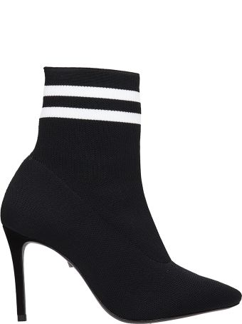 Schutz Black White Sock Ankle Boots