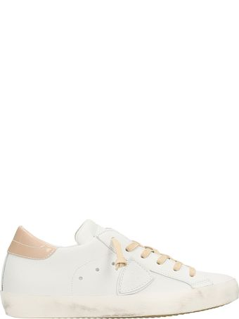Philippe Model Paris White Nude Sneakers
