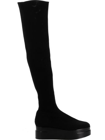 Robert Clergerie Black Fabric Boots