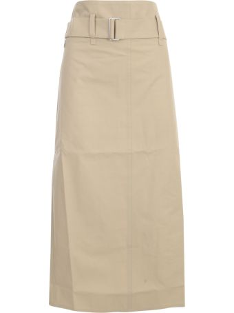 Sofie d'Hoore Belted Straight Midi Skirt