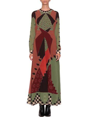Etro Color Block Silk Dress