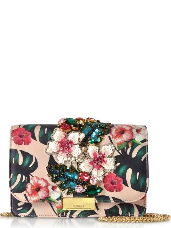 Gedebe Cliky Pink Monstera Clutch