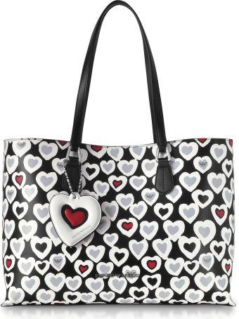 Emporio Armani Heart Print Tote Bag