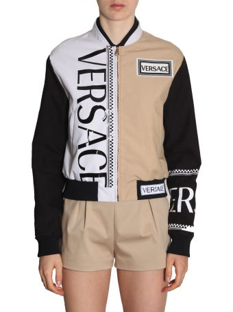Versace Bomber Jacket With Logo