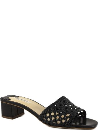 Fabio Rusconi Black Leather Sandal