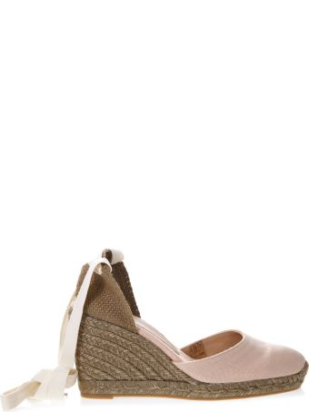 Castañer Rose Carina Canvas Espadrille Wedges