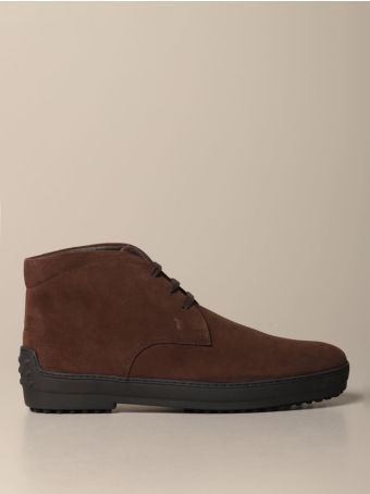 Tod's Chukka Boots Winter Tod's Ankle Boot In Suede