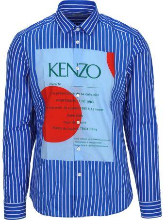 Kenzo Shirt Stripes Maxi Logo
