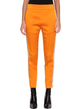 Haider Ackermann Gros Grain Trimmed Orange Trousers