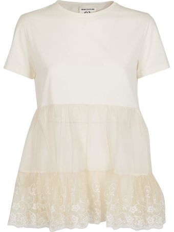 SEMICOUTURE Lace Embroidered Top