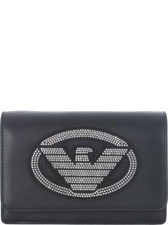 Emporio Armani Logo Studded Shoulder Bag