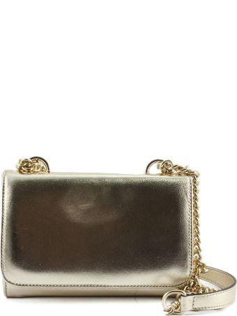 Roberto Festa Platinum Laminated Leather Clutch